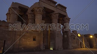 Track in for The Temple of Kom Ombo - Aswan, Egypt. by dawn