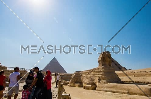 Timelapse for the Sphinx at Giza Pyramids at day
