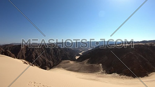 Revealing shot for Sinai Mountain from Ain Hodouda at day