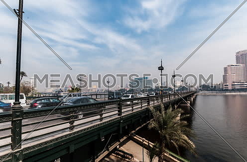 Fixed Shot for Qasr Al Nile Bridge at Day