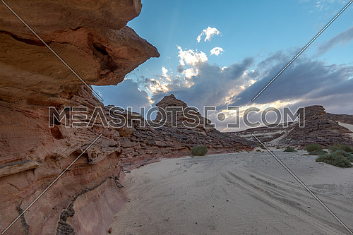 Long shot for Wadi Agarat in Sinai at day