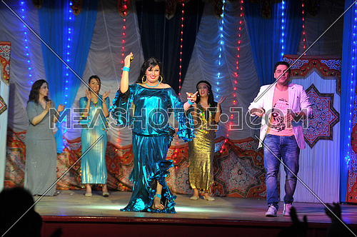 Egyptian belly dancer Vivi Abdo in the last play haret el aoalem