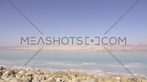 Dramatic left pan of the Dead Sea