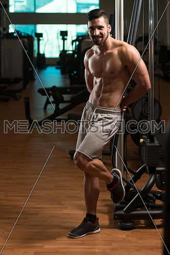 Young Muscular Men Resting After Exercises - Portrait Of A Physically Fit Young Man Without A Shirt