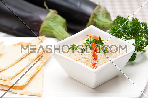 fresh traditional moutabal baba ghanoush eggplant dip