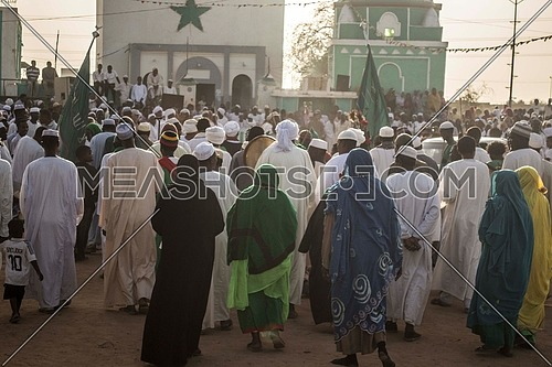 sudanese people going to attend Friday prayer in khartoum city Sudan, on 15 March 2013