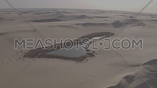 Fly over Siwa Oasis in the Western Desert  - Egypt by day