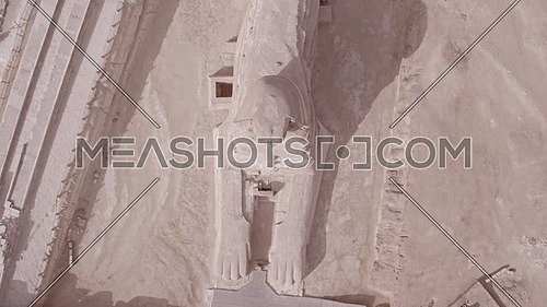 Fly over Shot Drone then Top lift off Shot for The Sphinx and Menkaure Pyramid and Khafre Pyramid in Giza at day