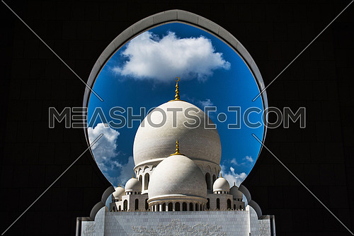 Sheikh Zayed Grand Mosque is located in Abu Dhabi