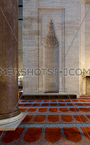 Marble wall with embedded niche in the exterior wall of Sultan Ahmet Mosque, Istanbul, Turkey