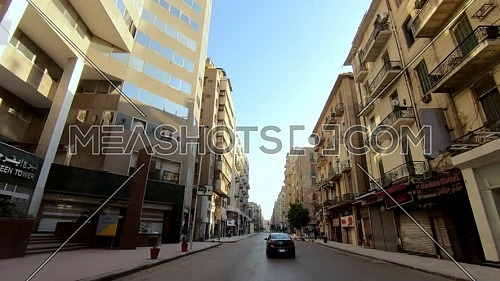 Drive Through Cairo Downtown by day.