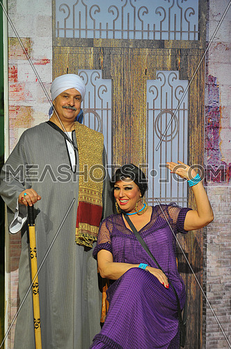 Egyptian belly dancer Vivi Abdo with the husband of her daughter the late artist Mahmoud el Desouki in the last play