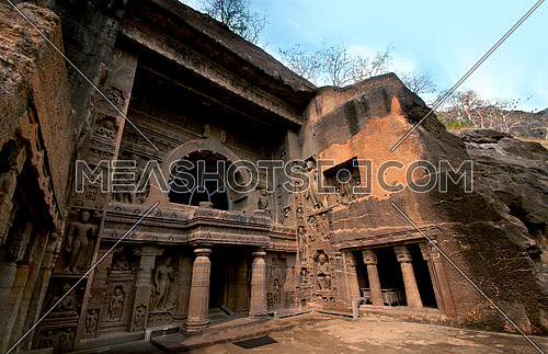 Ajanta Caves - UNESCO World Heritage site , Ancient Buddhist rock temples, Aurangabad,Maharashtra , India.