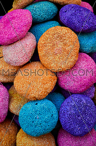 colorful rocks collected together in different colors
