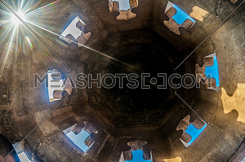 Shot from inside the minaret of Ibn Tulun mosque