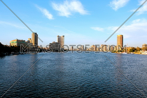 A view of Cairo by the nile in the day