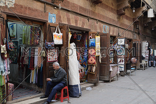 Shops in Khayameya area in old Cairo Egypt