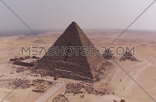 Aerial Shot for the Pyramids at Giza at Day