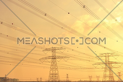Electrical power tansmission  lines and network towers
