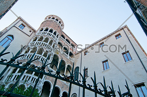 This Renaissance spiral staircase, built around 1499 by Giovanni Candi, is an elegant structure that is designed like a