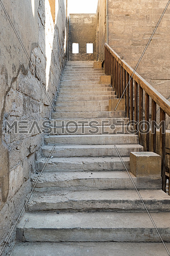 Staircase leading to the minaret Ibn Tulun mosque, Sayyida Zaynab district, Medieval Cairo, Egypt