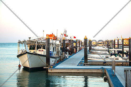 A fishing boat harbor in dubai