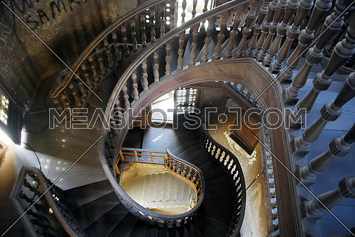 The internal staircase of the Baron Imban Palace is a historic palace inspired by the Indian architecture built by the Belgian millionaire Baron Edbon Imban on July 22, 1929. The palace is located in the heart of Heliopolis in Cairo, on Al Orouba Street on the main road leading to Cairo International Airport. 2010