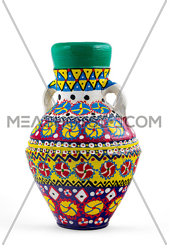 Egyptian decorated colorful pottery vase (Kolla)