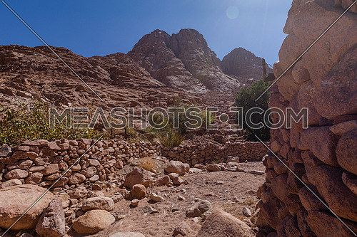 long shot for Sinai Mountain in Wadi Freij by day.
