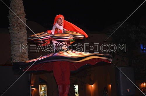 A man dancing the tanoura Egyptian folk art