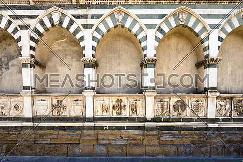 In the picture the walls of Santa Maria Novelle in Florence.