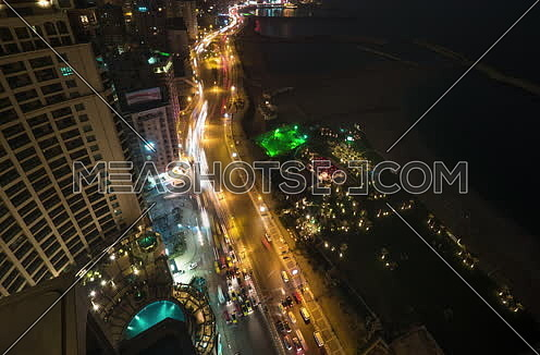 Top moving Shot for Alexandria City from day to night