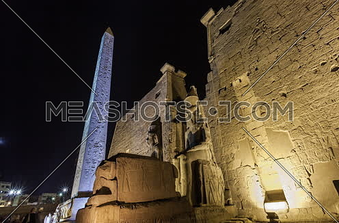 Jib Up shot for Luxor Temple at Night