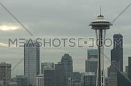 Seattle's Space Needle early morning (2 of 2)
