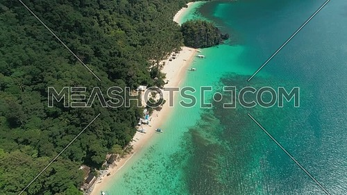 Aerial shot for 7 Comandos in the Philippines at day