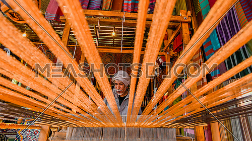 Manufacture of hand looms in Egypt in the Nuba area