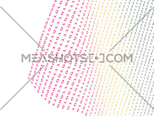 binary numbers on white background