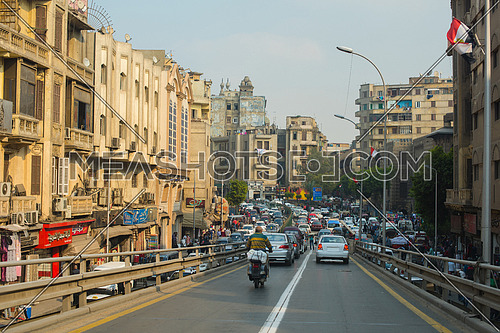 traffic jam in a large modern middle eastern city