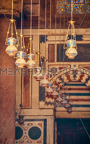 Lanterns in the mosque of Moez