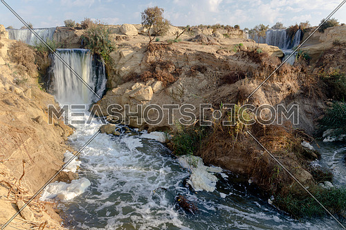 Rock Hills Water Falls Wadi Al Rayan Nature reserve , Historical Tourism landmark in desert , Egypt