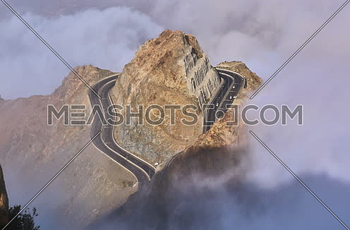 Al Hada Mountain in Al Taif city Saudia Arabia   جبل الهدا في مدينة الطائف
