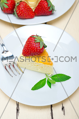 heart shaped cheesecake with strawberryes ideal cake for valentine day