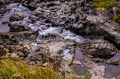 River flow, Fairy Pools in Scotland