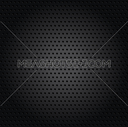 Vector illustration square background pattern of dots and holes in black metal surface with gradient