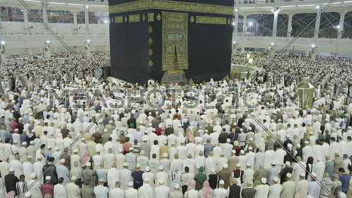 Muslim People at Kaaba for Pilgrimage.