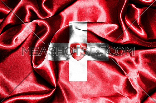 Switzerland National Flag With Coat Of Arms