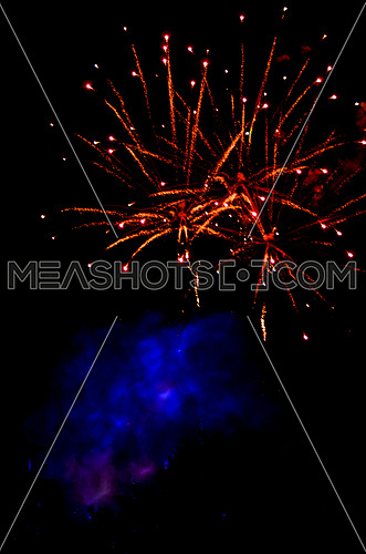bright fireworks celebration at night