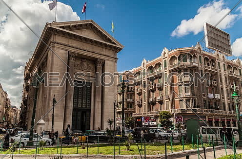 Fixed shot for Stock Market Bulding in Alexandria at Day