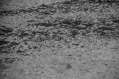 Close up shot for concrete ground Black and white