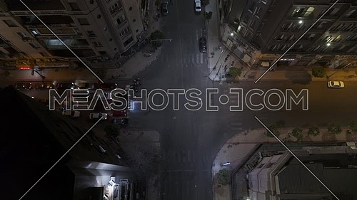 Jib Up shot flying over downtown in Cairo at night - 2nd MAY 2019